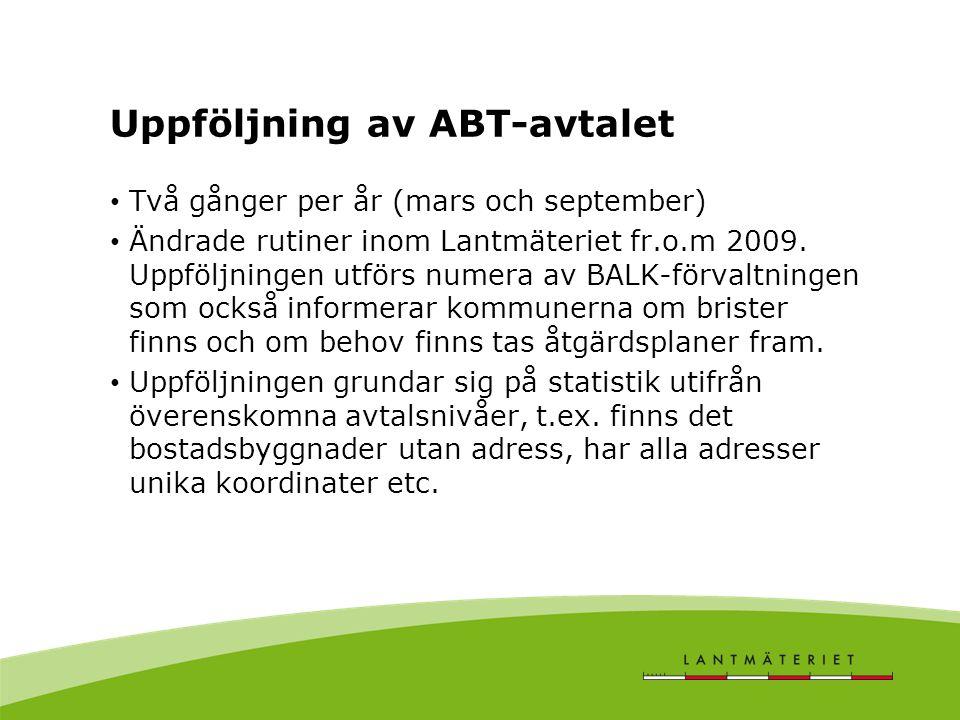 Uppföljning av ABT-avtalet