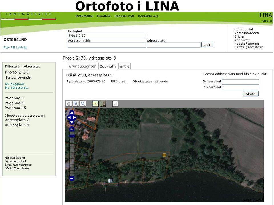 Ortofoto i LINA