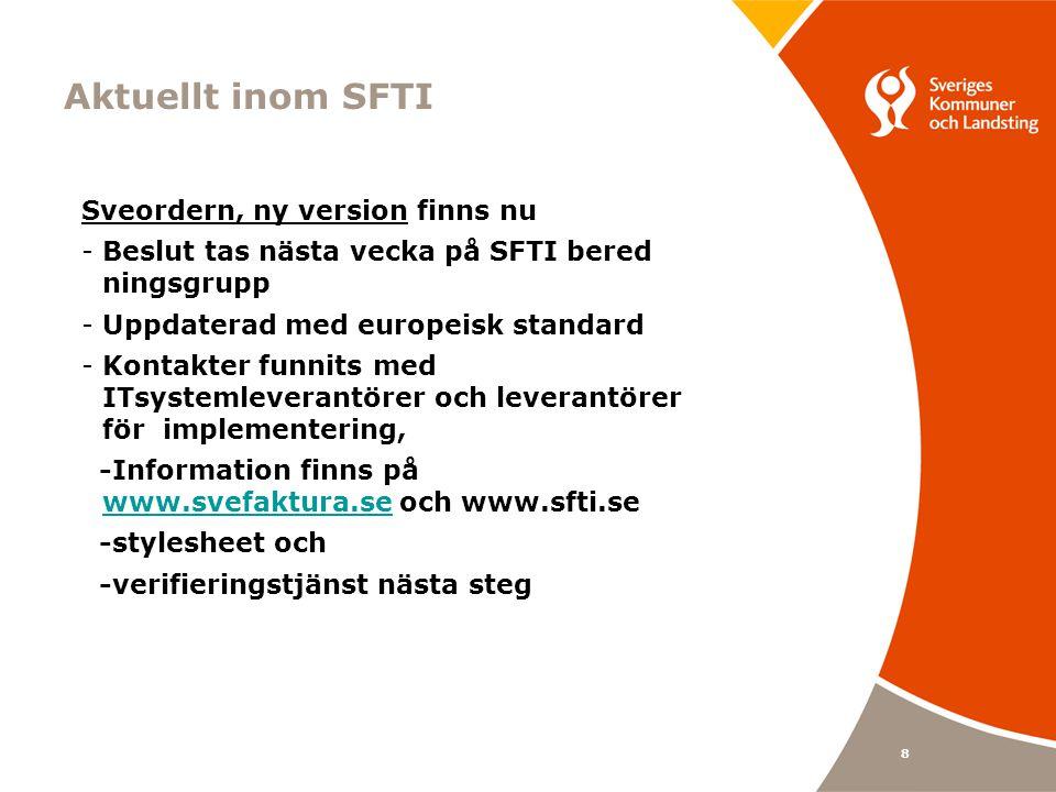 Aktuellt inom SFTI Sveordern, ny version finns nu