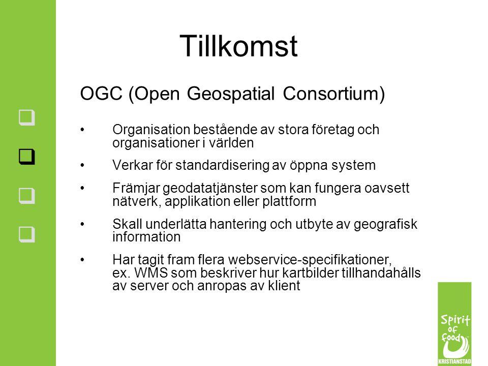 Tillkomst OGC (Open Geospatial Consortium)