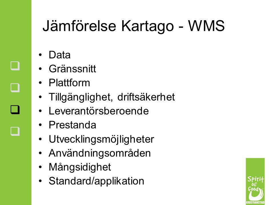 Jämförelse Kartago - WMS