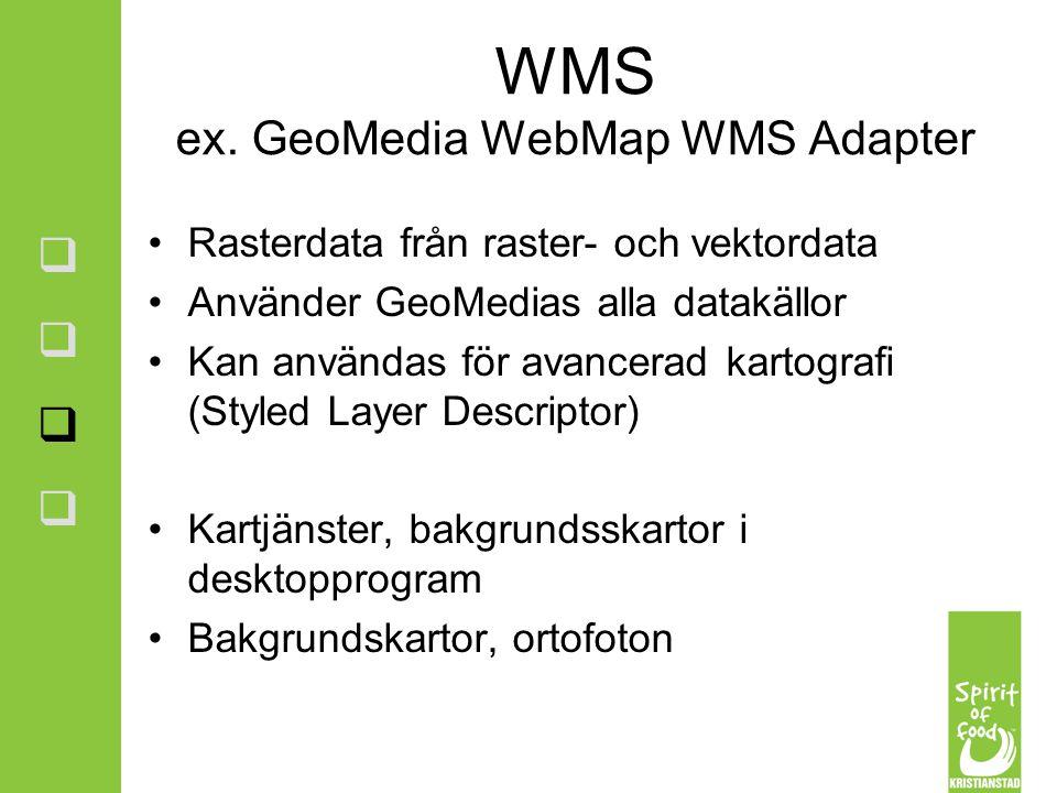 WMS ex. GeoMedia WebMap WMS Adapter