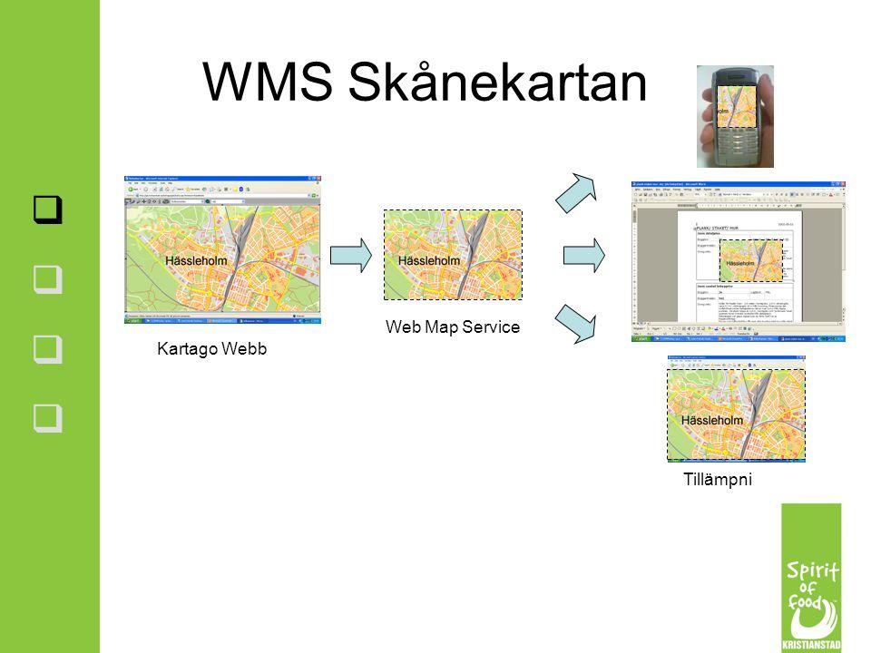 WMS Skånekartan Web Map Service Kartago Webb Tillämpningar