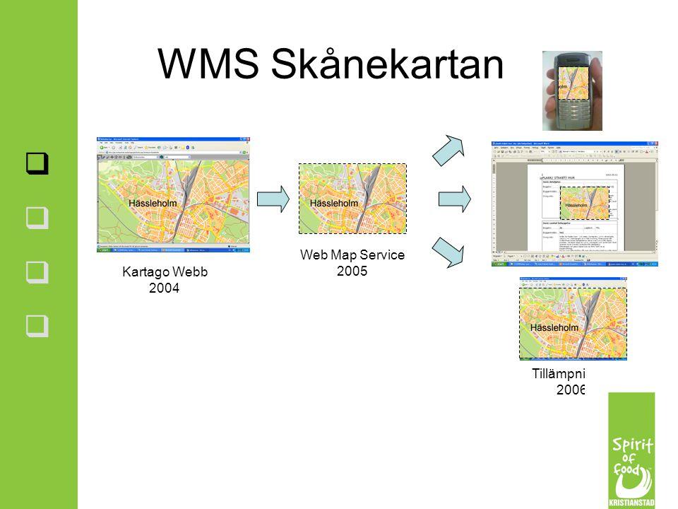 WMS Skånekartan Web Map Service 2005 Kartago Webb 2004