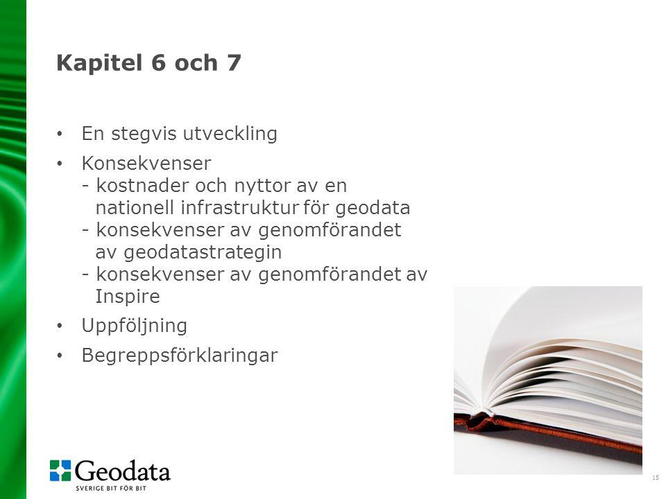 Kapitel 6 och 7 En stegvis utveckling
