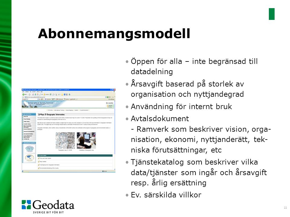 Abonnemangsmodell Öppen för alla – inte begränsad till datadelning