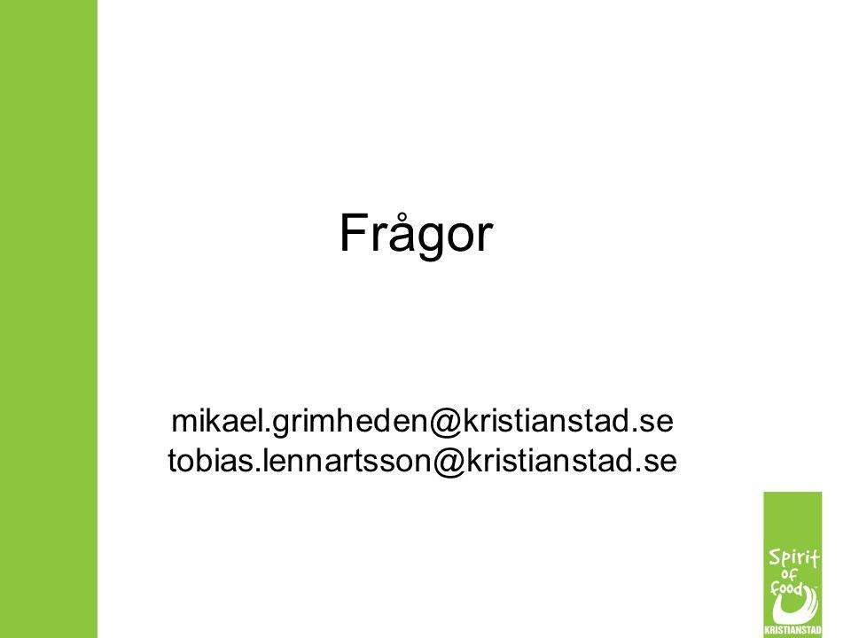 mikael.grimheden@kristianstad.se tobias.lennartsson@kristianstad.se