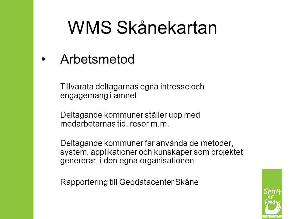 WMS Skånekartan Arbetsmetod