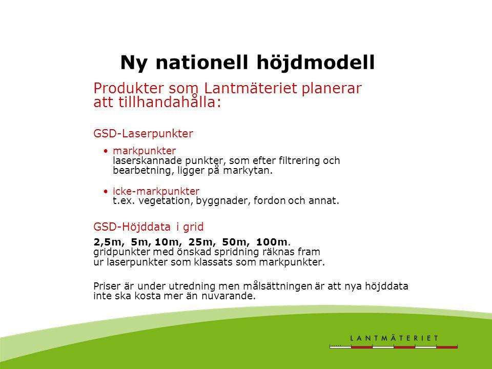 Ny nationell höjdmodell