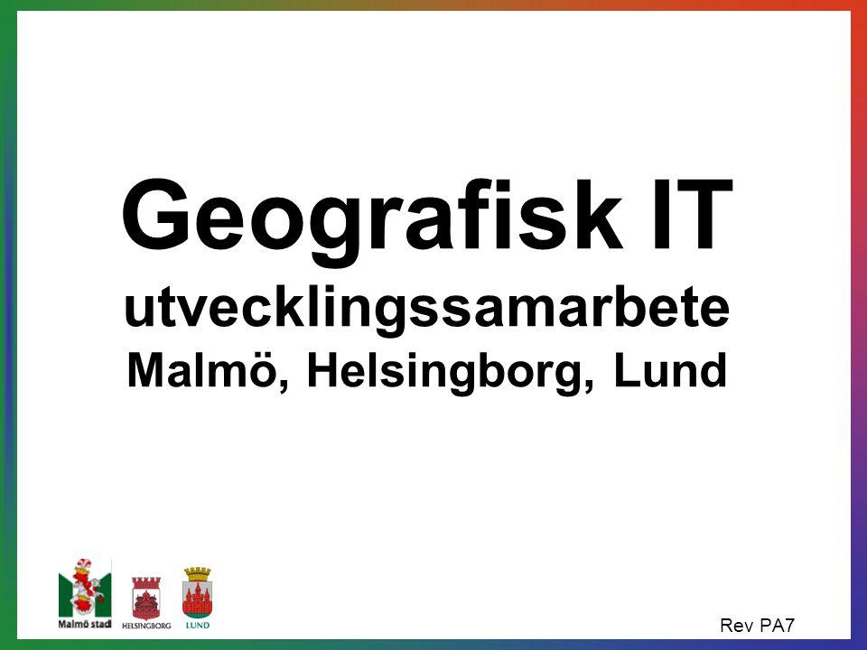 Geografisk IT utvecklingssamarbete Malmö, Helsingborg, Lund