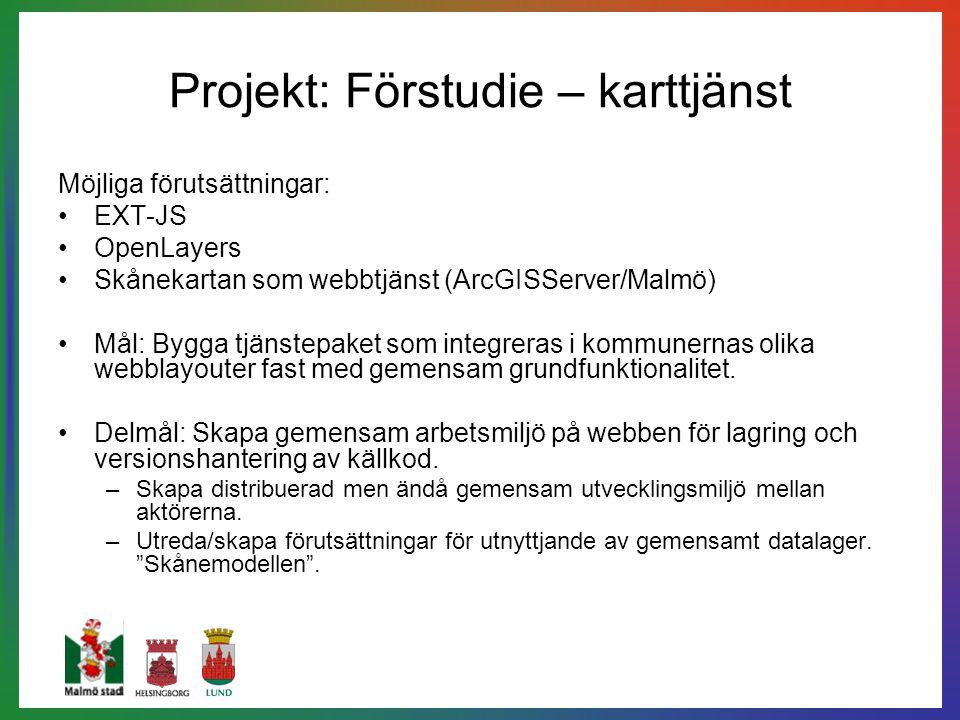 Projekt: Förstudie – karttjänst