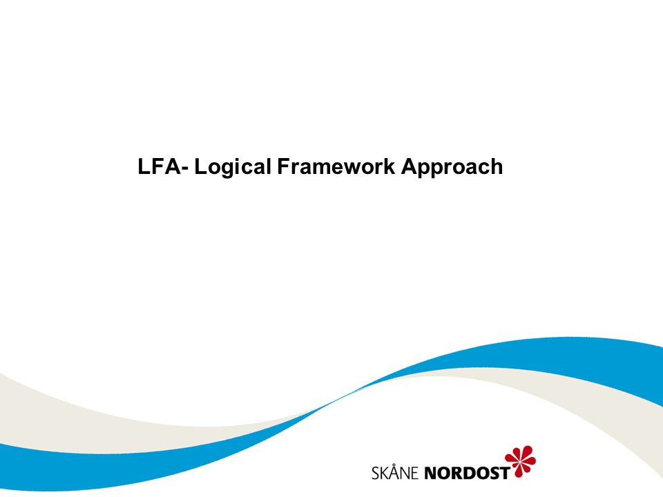 LFA- Logical Framework Approach