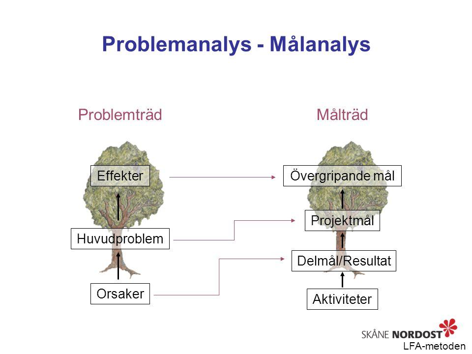 Problemanalys - Målanalys