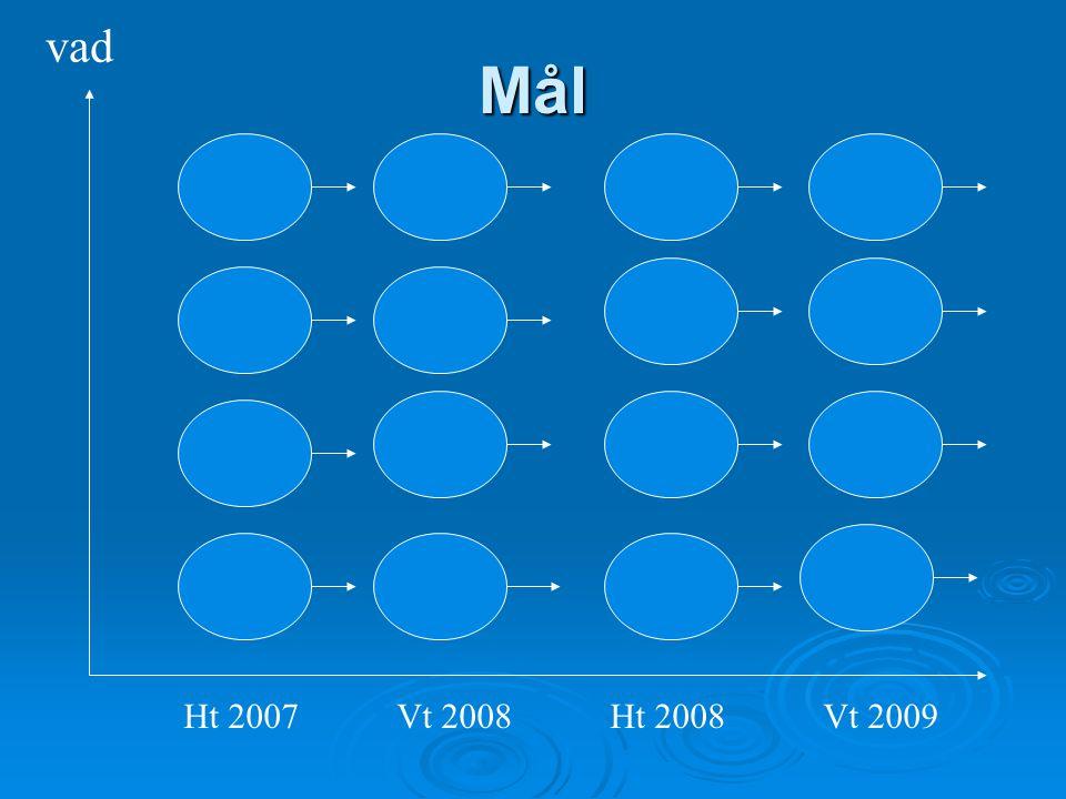 vad Mål Ht 2007 Vt 2008 Ht 2008 Vt 2009