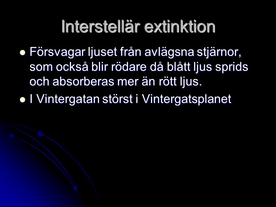 Interstellär extinktion
