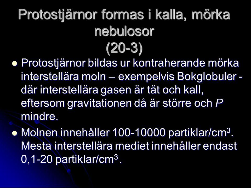 Protostjärnor formas i kalla, mörka nebulosor (20-3)