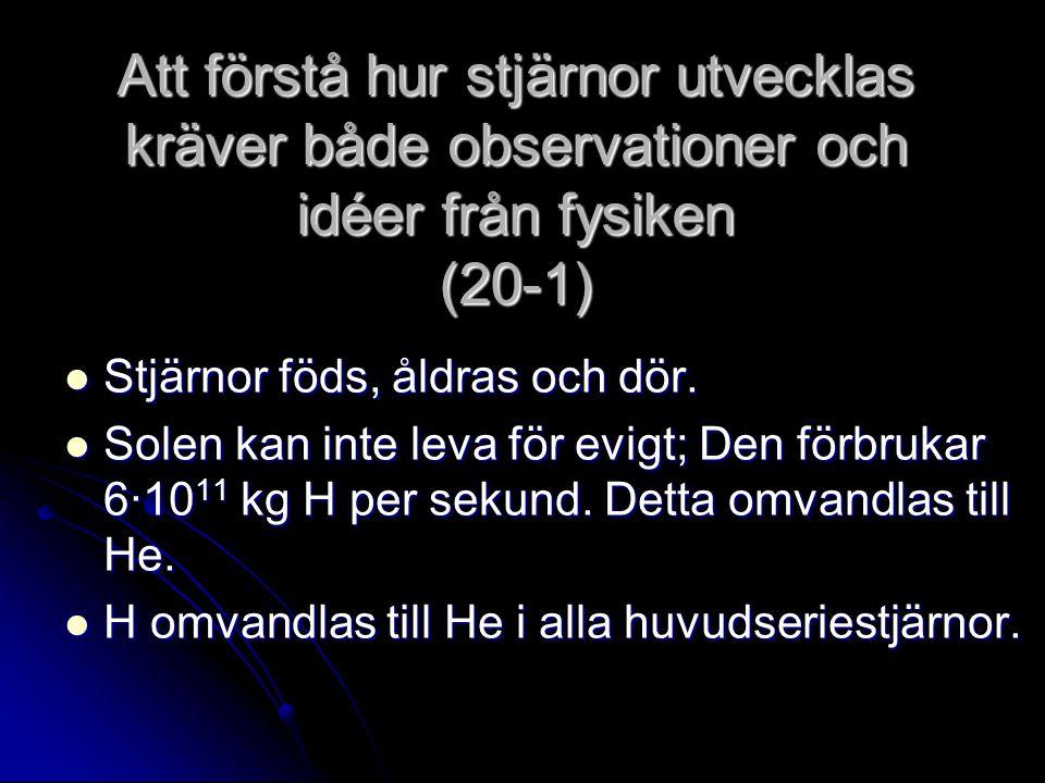 Att förstå hur stjärnor utvecklas kräver både observationer och idéer från fysiken (20-1)