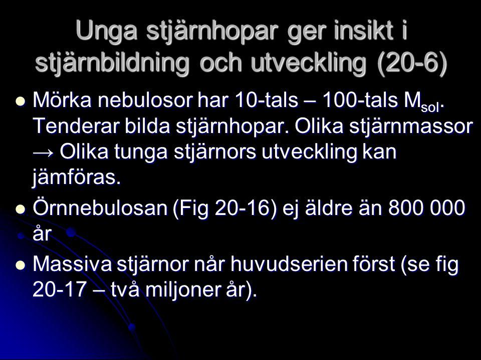 Unga stjärnhopar ger insikt i stjärnbildning och utveckling (20-6)