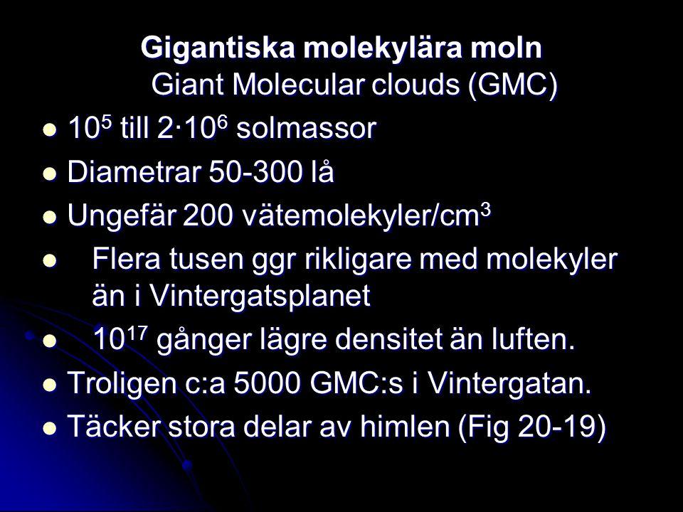 Gigantiska molekylära moln Giant Molecular clouds (GMC)