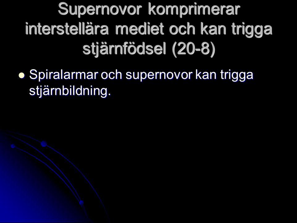 Supernovor komprimerar interstellära mediet och kan trigga stjärnfödsel (20-8)