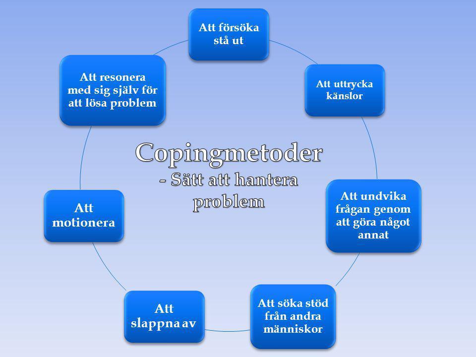 Copingmetoder - Sätt att hantera problem Att försöka stå ut
