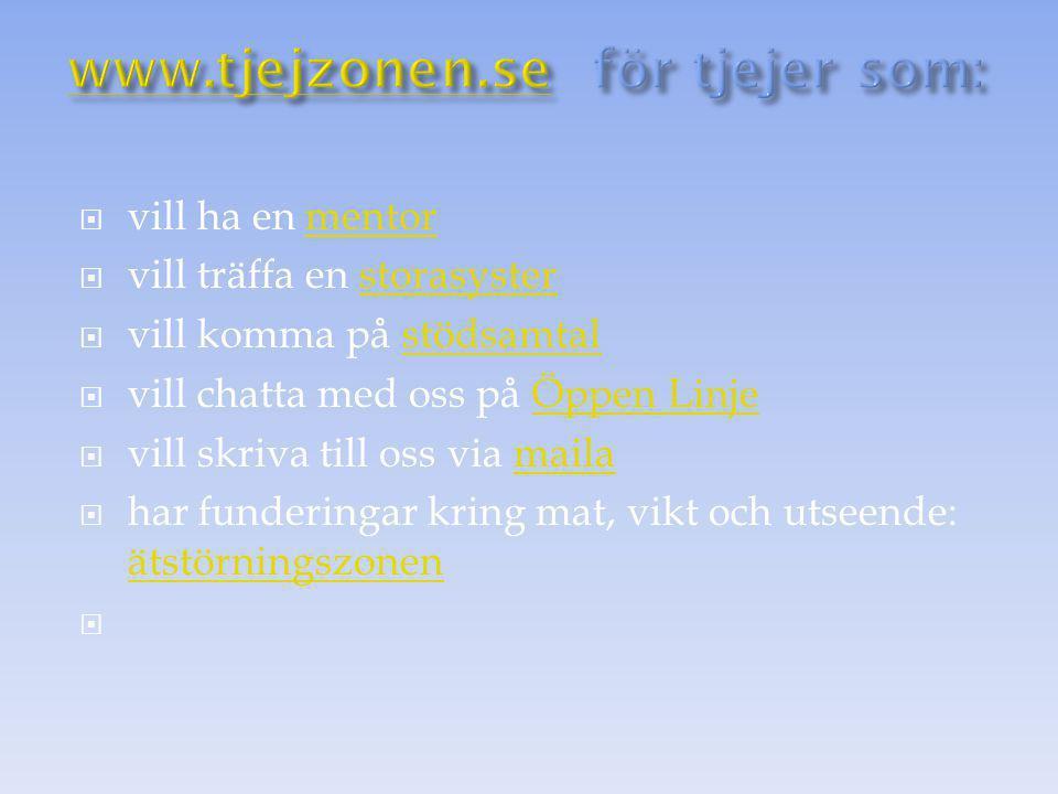 www.tjejzonen.se för tjejer som: