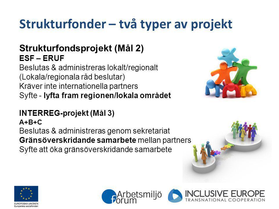 Strukturfonder – två typer av projekt