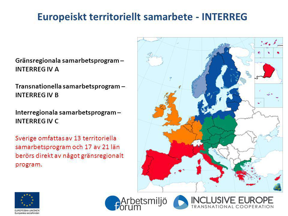 Europeiskt territoriellt samarbete - INTERREG