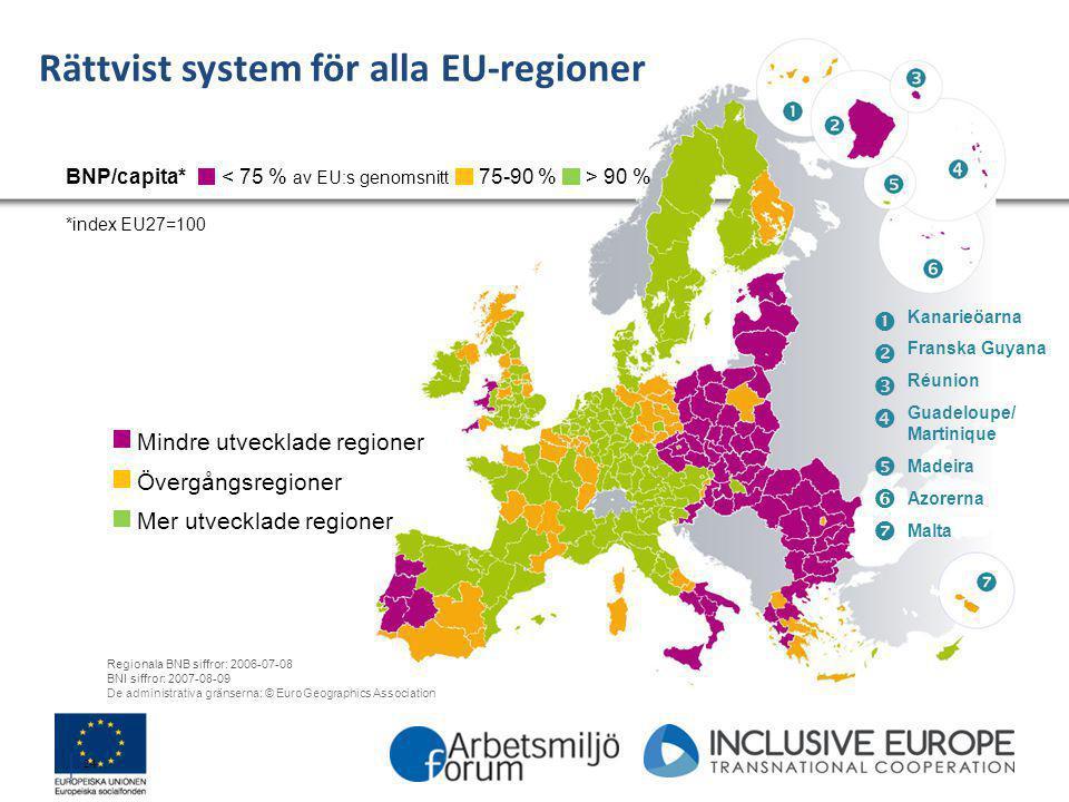 Rättvist system för alla EU-regioner