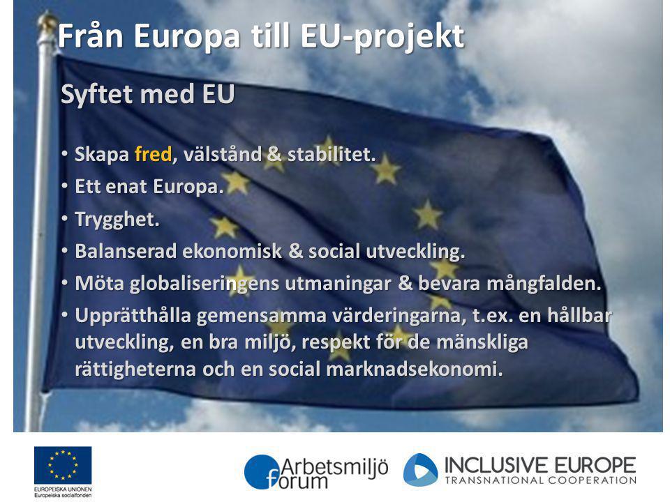 Från Europa till EU-projekt