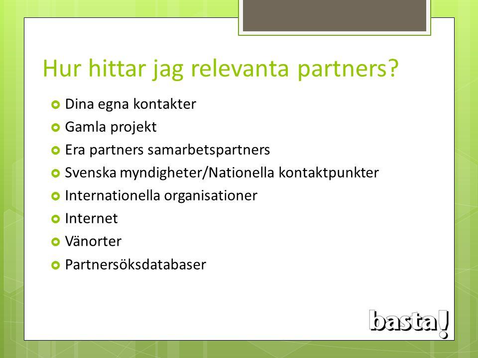Hur hittar jag relevanta partners