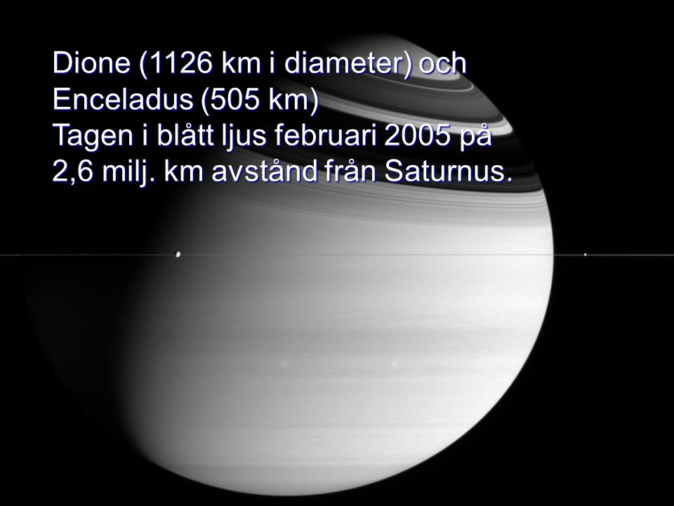 Dione (1126 km i diameter) och