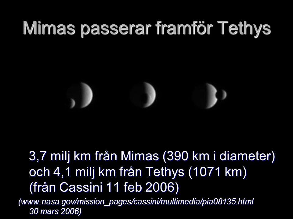 Mimas passerar framför Tethys
