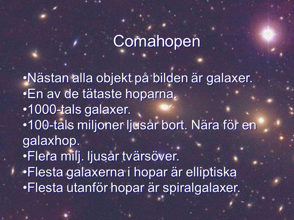 Comahopen Nästan alla objekt på bilden är galaxer.