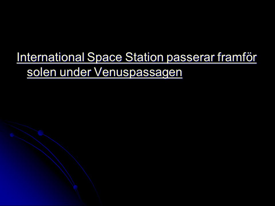International Space Station passerar framför solen under Venuspassagen