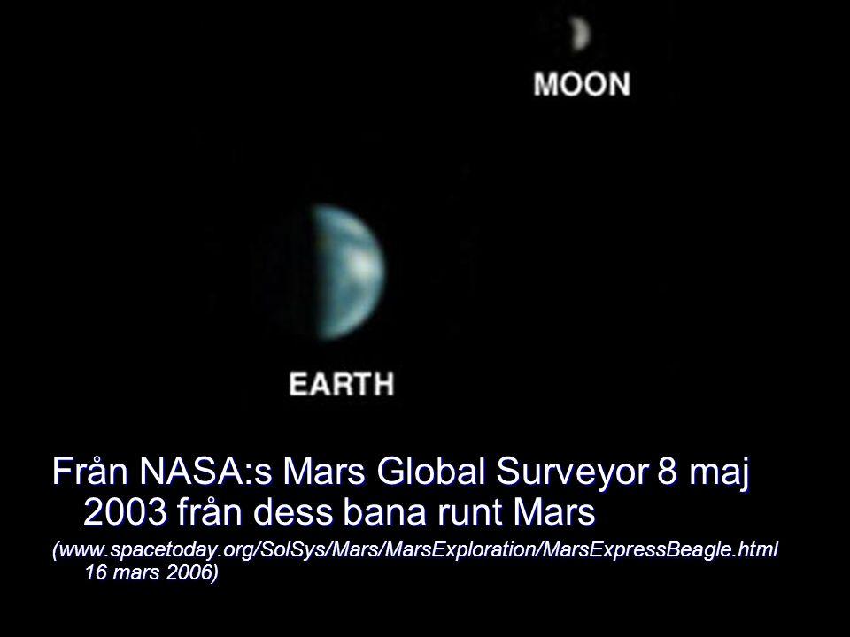 Från NASA:s Mars Global Surveyor 8 maj 2003 från dess bana runt Mars