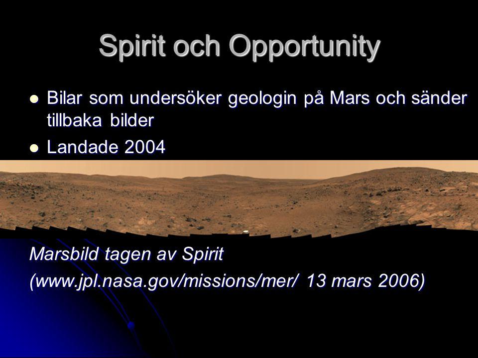 Spirit och Opportunity