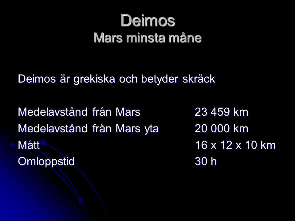 Deimos Mars minsta måne