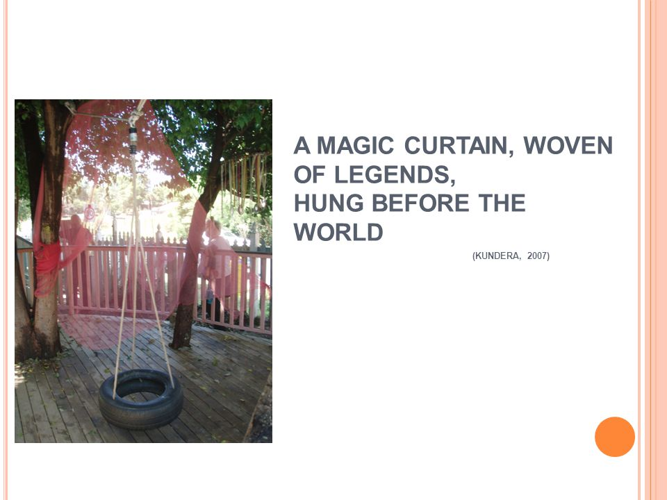 A MAGIC CURTAIN, WOVEN OF LEGENDS, HUNG BEFORE THE WORLD (KUNDERA, 2007)
