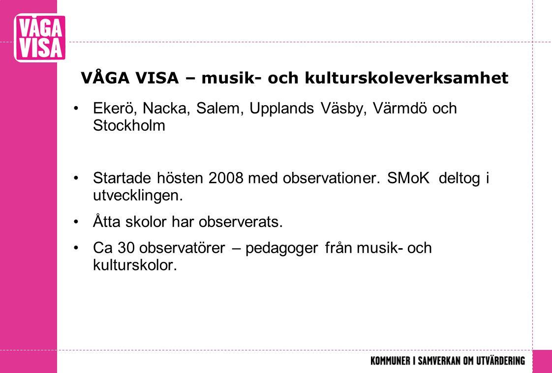 VÅGA VISA – musik- och kulturskoleverksamhet
