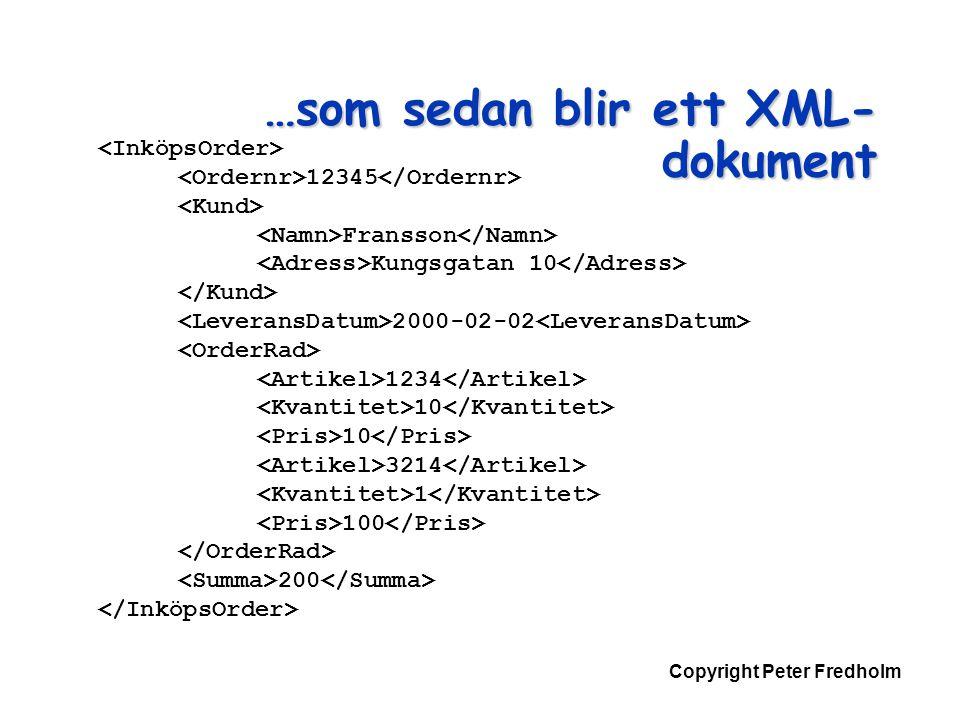 …som sedan blir ett XML-dokument
