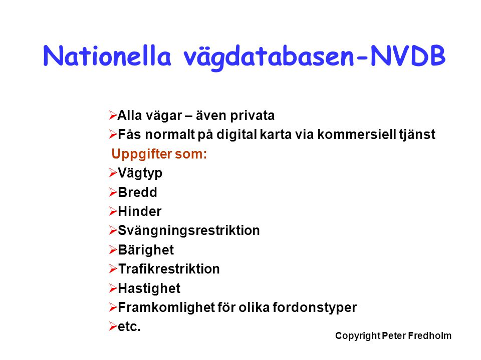Nationella vägdatabasen-NVDB