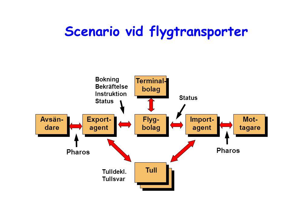 Scenario vid flygtransporter