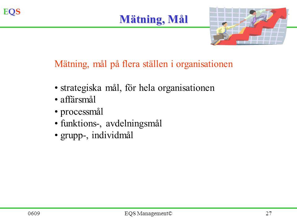 Mätning, Mål Mätning, mål på flera ställen i organisationen