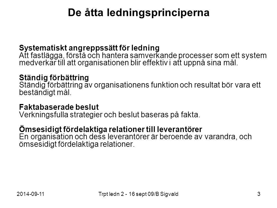 De åtta ledningsprinciperna