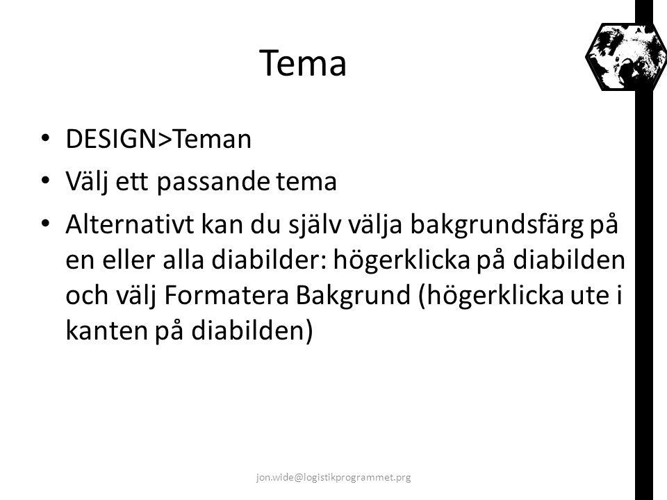 Tema DESIGN>Teman Välj ett passande tema