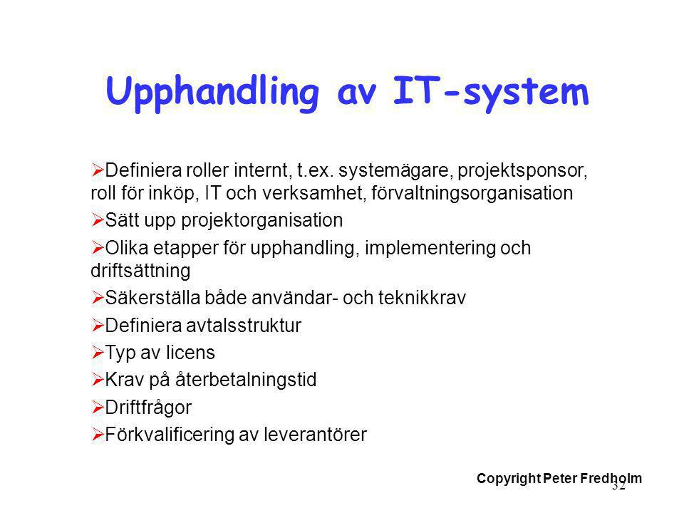 Upphandling av IT-system