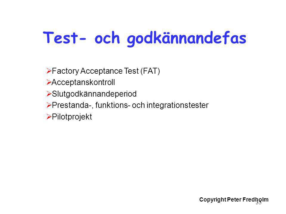 Test- och godkännandefas