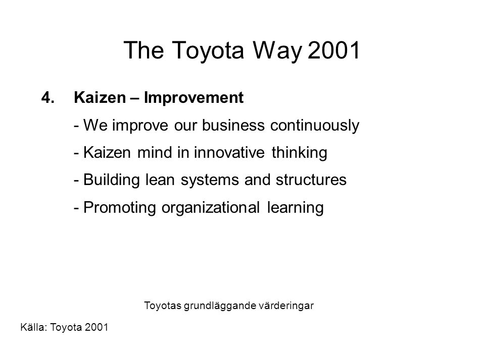The Toyota Way 2001