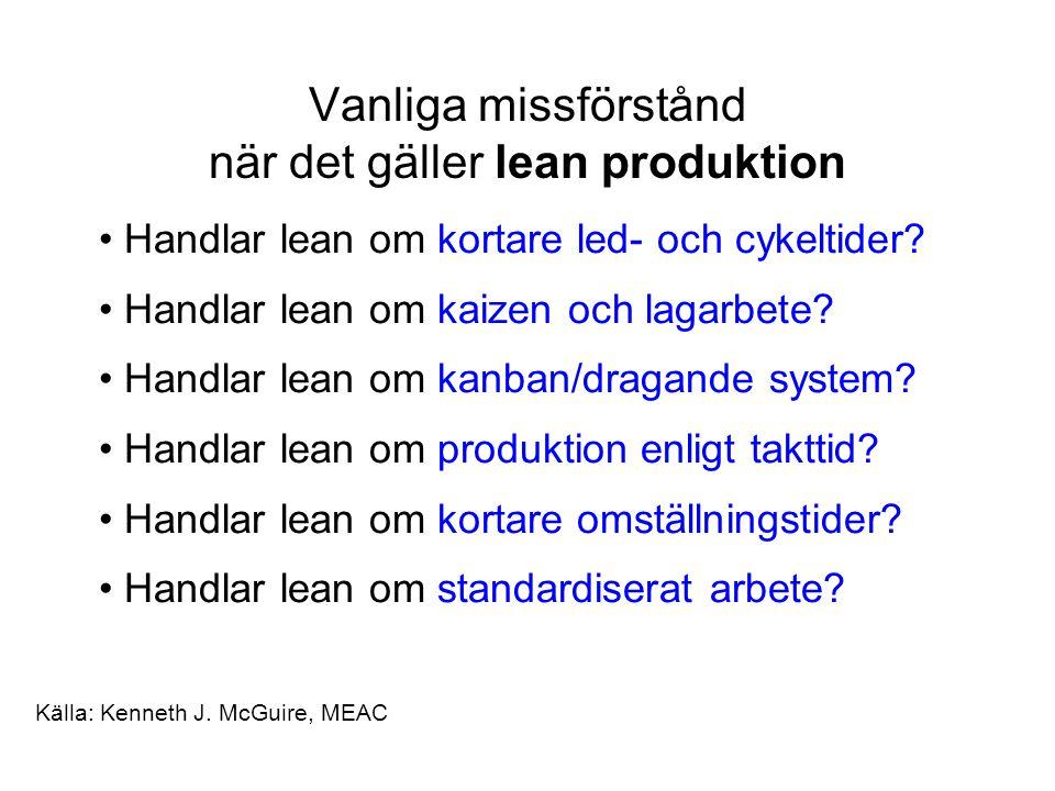 Vanliga missförstånd när det gäller lean produktion